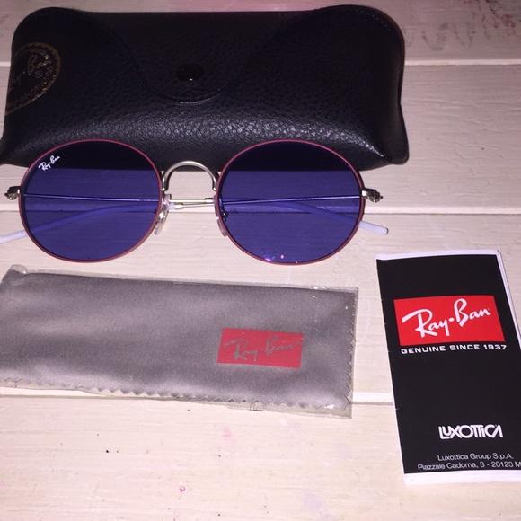 "f9386c69600 Ray• Ban ""Round double bridge"" purple sunglasses"